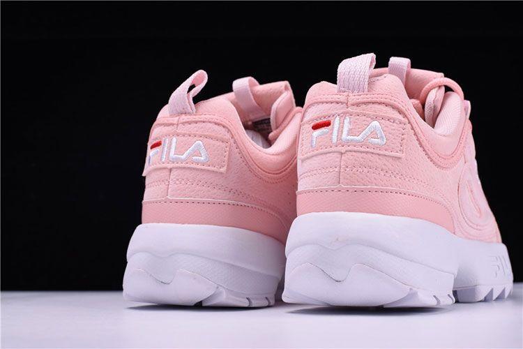 bb535880ecb FILA Disruptor II 2 sneaker women's running shoes cherry pink white logo