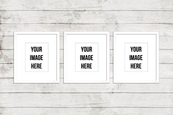 frame mockup three frames digital white frames three digital frames product mockup mockup three frames mockup wood background