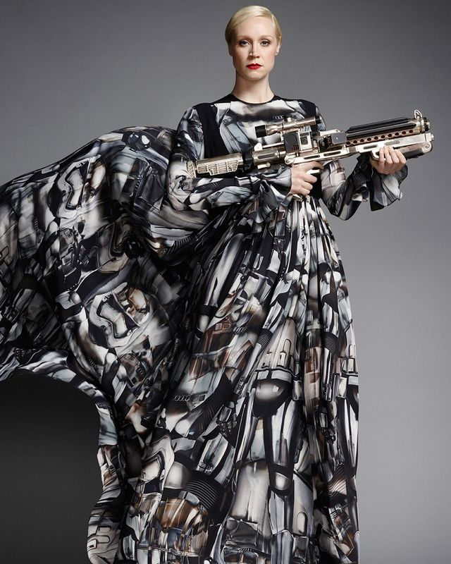 Gwendoline Christie Models Stylish Captain Phasma Gown Women Of