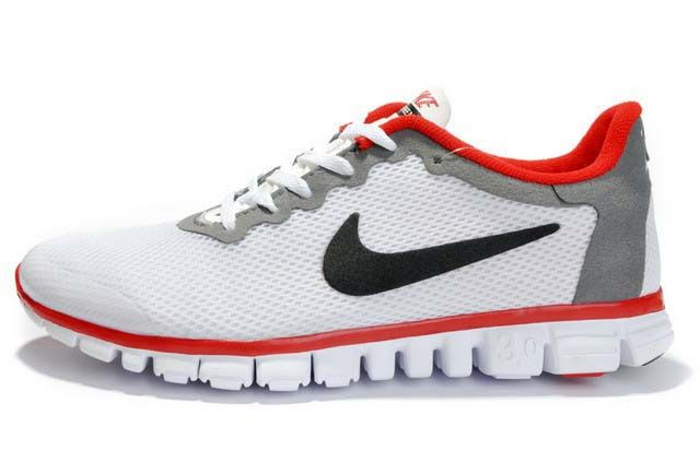 nike dunk low chanvre cl - Nike Free 3.0 V2 White Grey Red Womens cheer shoes cheap nikes ...