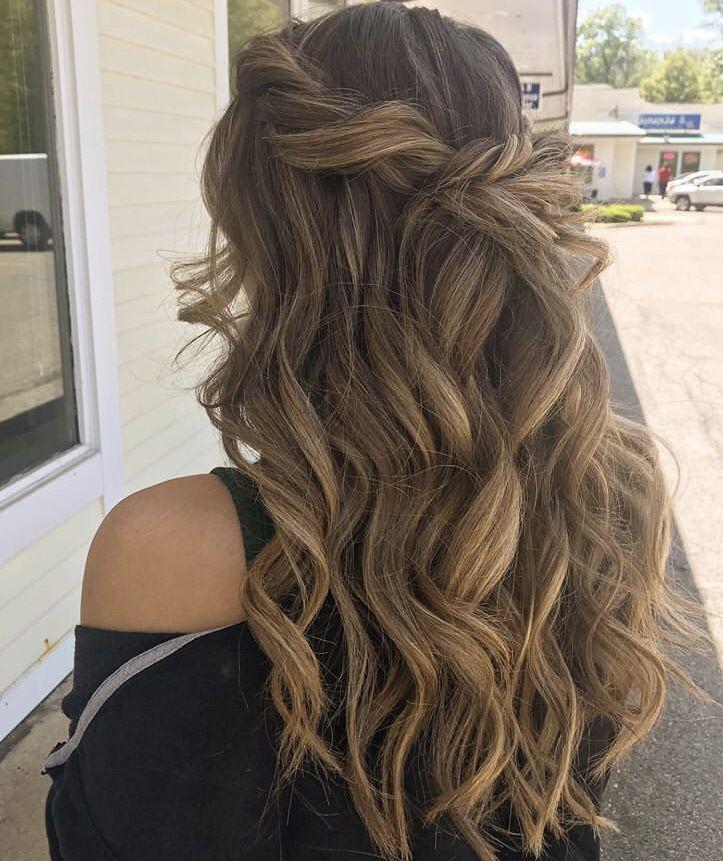 Prom hair in 2020 | Brown hair balayage, Girl hairstyles ...