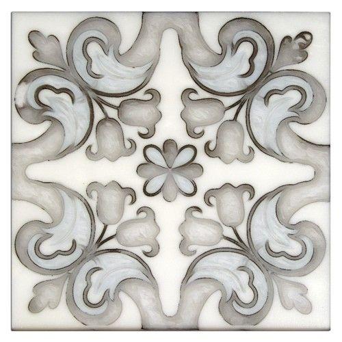 Floral Tile Patterns Unique Stone Tile Designs For Backsplash Bathroom Floor Wall Tile In Stock Ready To Sh Artisan Stone Tile Tile Design Pattern Floral Tiles