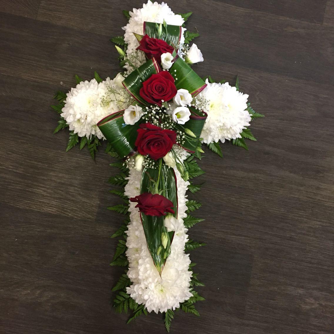 Funeral cross funeral men pinterest funeral funeral flowers funeral cross izmirmasajfo