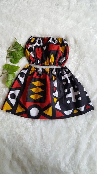 Roupa Africana Infantil - Conjunto Cropped e turbante