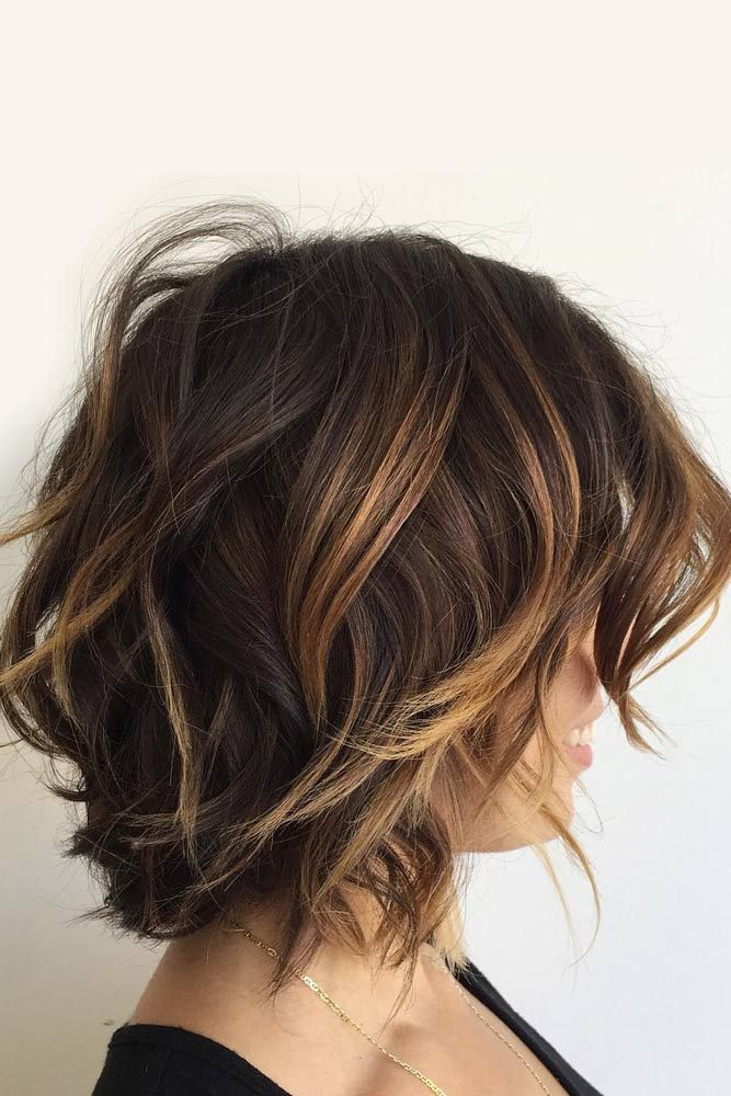 Highlights For Short Hair Trend Lovehairstyles Com Hair Styles Short Brunette Hair Brunette Hair Color