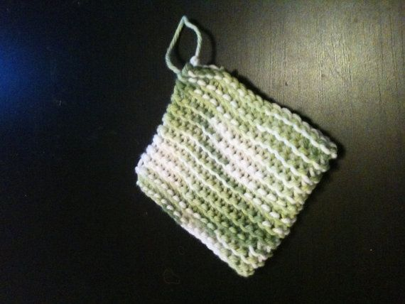 Handknitted Cotton Soap Saver by HandworksFromTheBlue on ...