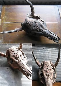 Download STEAMPUNK - CUSTOMISED CALF OR COW SKULL WITHOUT ORIGINAL ...