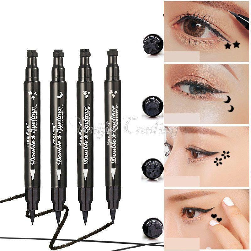 Waterproof Cat Eye Black Stamp Cosmetic Eyeliner Pencil Tattoo Makeup Liquid