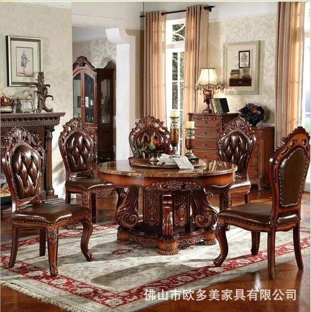 Made In Italy Dining Room Set Round