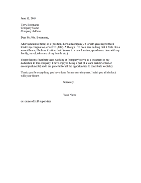 This Resignation Letter Can Spark Your Own Heartfelt Goodbye After
