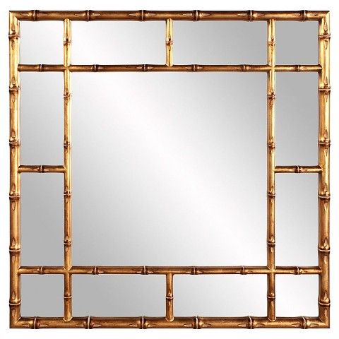 gold bamboo mirror. Bamboo Mirror - Bright Gold O