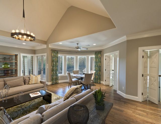 outstanding mega greige living room | Perfect greige sw | Family room design, House design ...