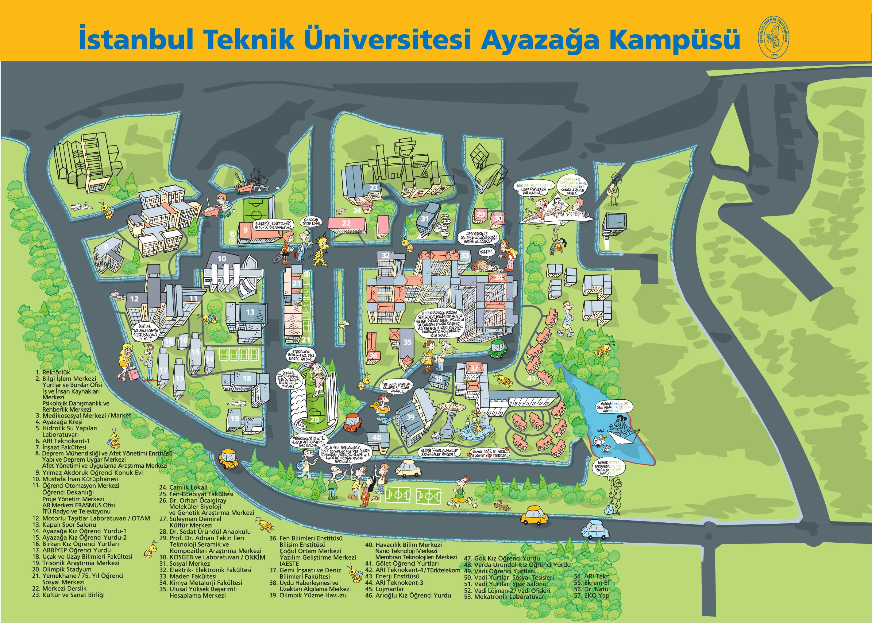Istanbul Teknik Universitesi Panosundaki Pin
