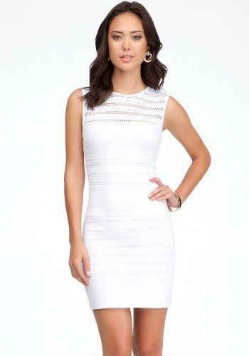 bebe Pointelle Jersey Fitted Dress Day Dresses ($98)