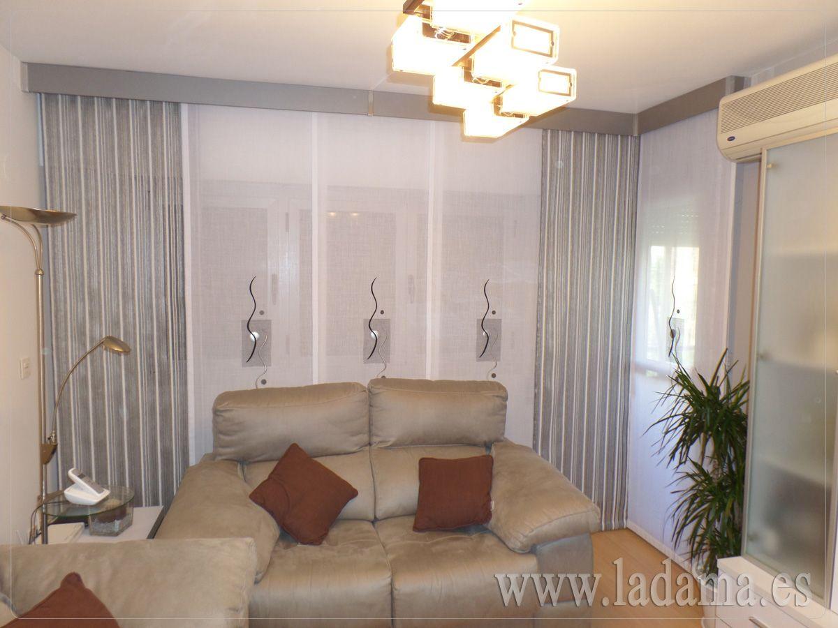 Nuestros paneles japoneses bordados son la opci n m s - Decoracion salones cortinas ...