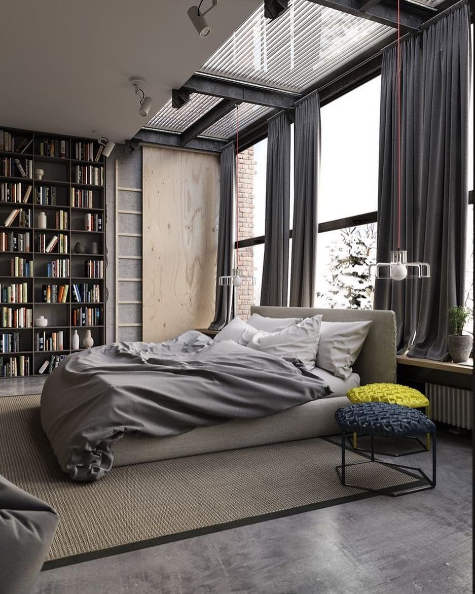 Loft style bedroom ideas  Daily Design Inspiration  Abduzeedo  Spaces  Pinterest  Design