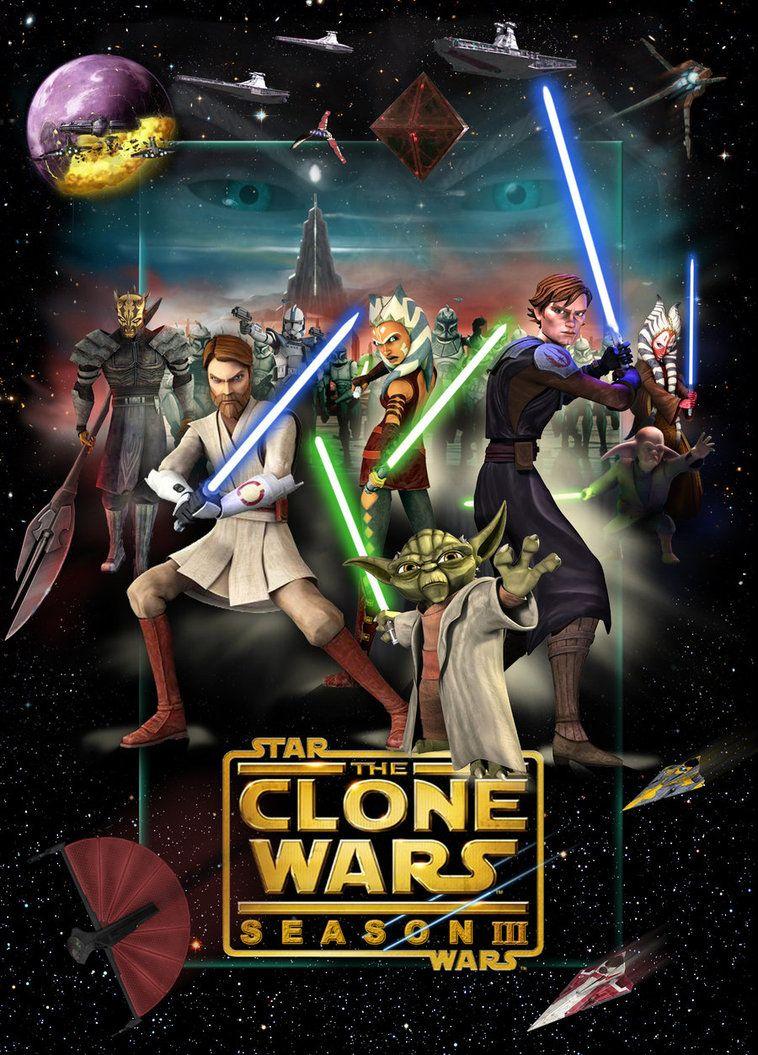 Star Wars The Clone Wars Season Iii Star Wars Pictures Star Wars Canvas Art Star Wars Poster