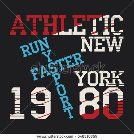 Athletic sport running typography, t-shirt graphics, s