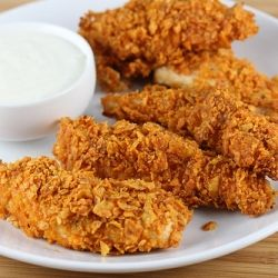 Doritos Chicken Strips Chips Dips Salsa Potato Kettle Corn Rice With Images Dorito Chicken Chicken Strip Recipes Food Recipes