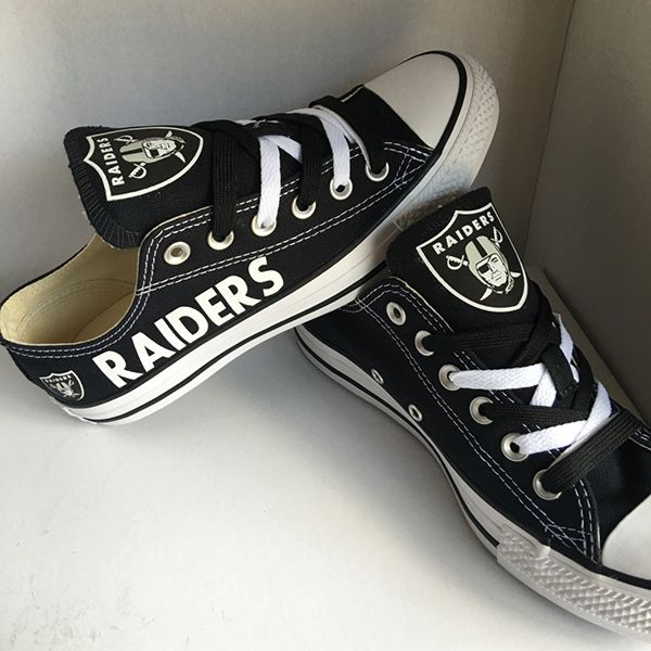 b9e6151a37c7 Oakland Raiders Converse Sneakers
