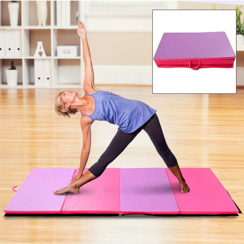 """Soozier 6' × 4' × 2"""" Gymnastics Mats Mat Folding Panel"""