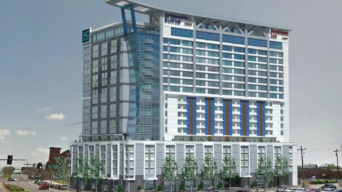 Marriott Hotels Going In Across From The Omni Nashville Residence Inn Springhill Suites And