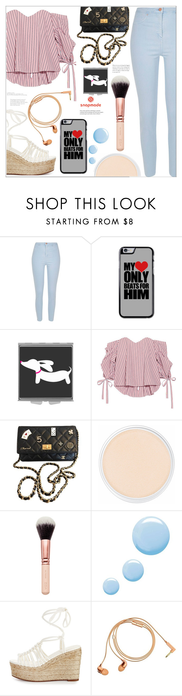 """""""Snapmade"""" by mycherryblossom ❤ liked on Polyvore featuring River Island, Caroline Constas, Chanel, Clinique, Topshop, Chloé, Happy Plugs, shopping, polyvoreeditorial and polyvorestyle"""