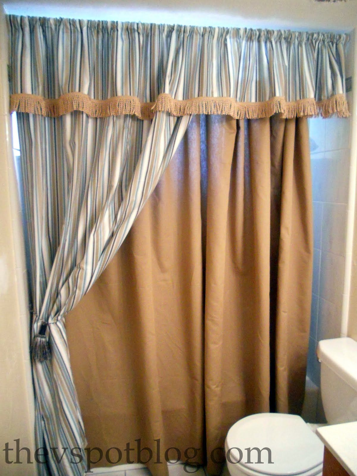How To Make Shower Curtain How To Make A No Sew Shower Curtain Aka I Have A Close Personal