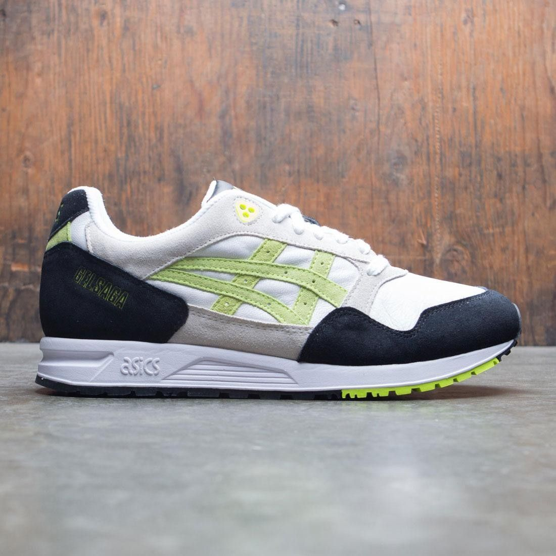 Asics Tiger Men Gel Saga (white / flash yellow) in 2020 ...