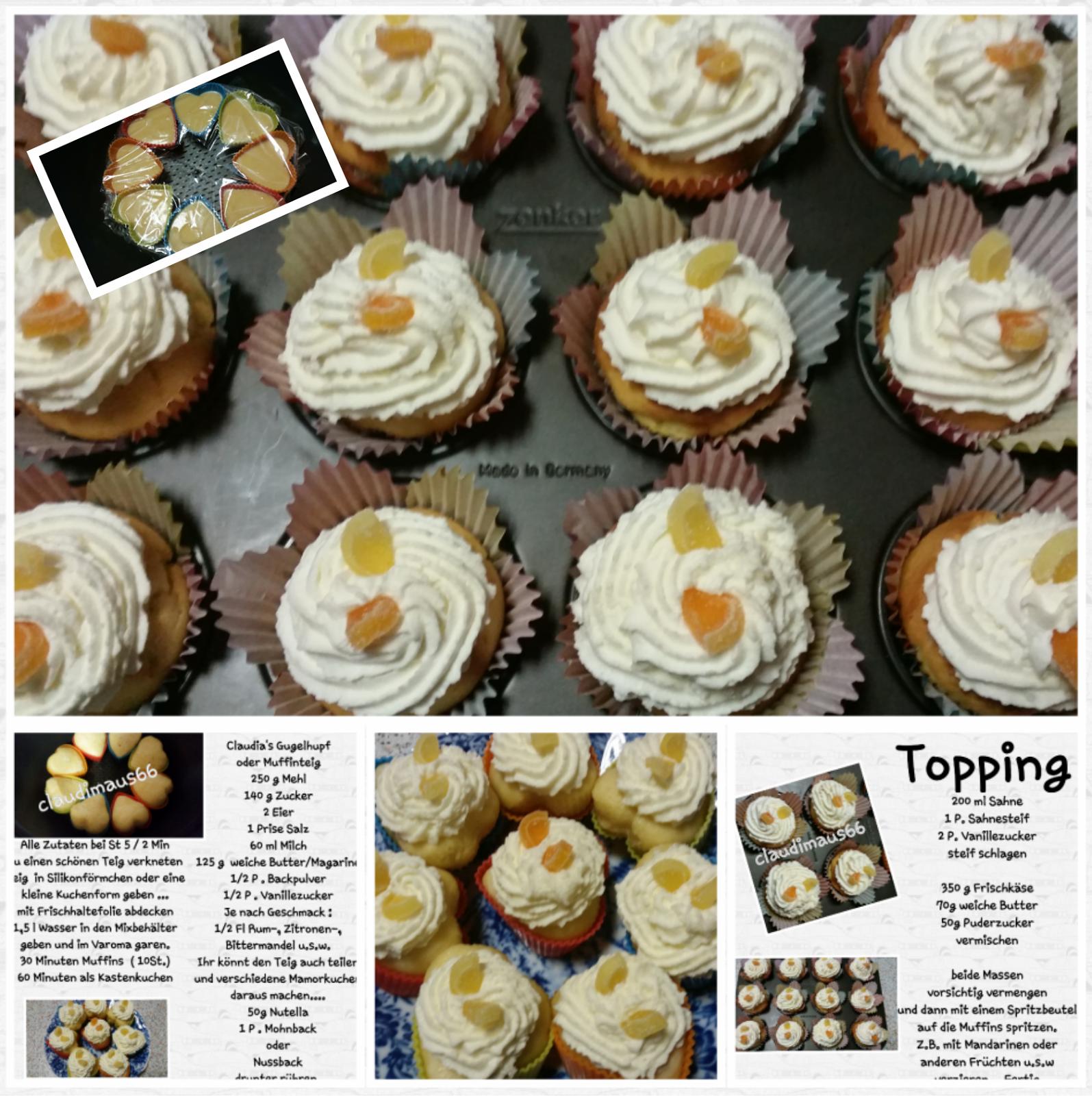 Kuchen aus dem Varoma ♡ Ob als Muffin oder Kleiner Kuchen, super saftig.     Menge für den Varoma:     - 60ml Milch   - 2 Ei   - 125g weiche Butter   - 250g M...