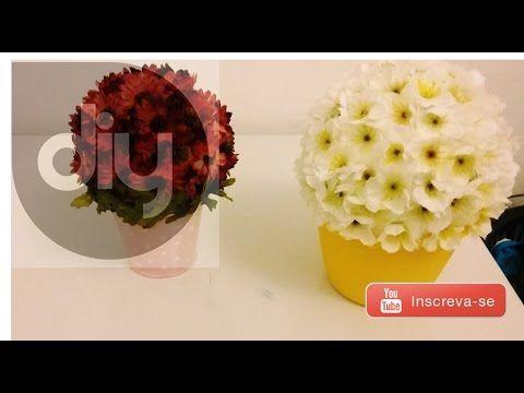 ✄ DIY | Vasinho de flores gastando menos de R$10! - YouTube