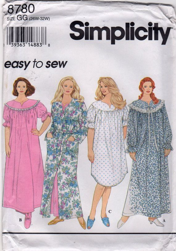276d9864b140 Simplicity 8780 Beautiful Womens Robe Nightgown 2 by mbchills ...