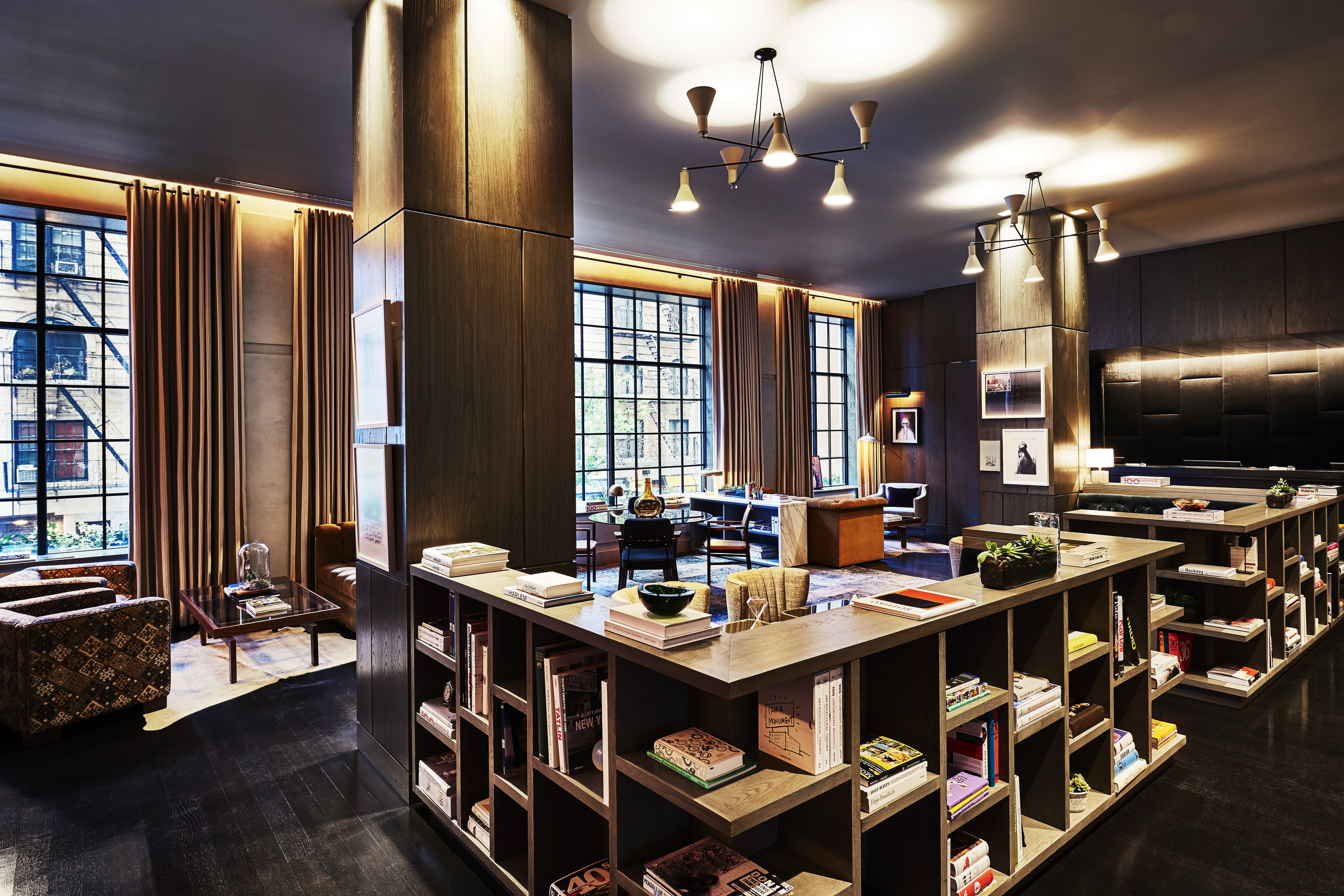 Designs Featured On Www Martynwhitedesigns Images Courtesy Of Sixty Hotels Lobby And The Gordon Bar At Soho Hotel New York
