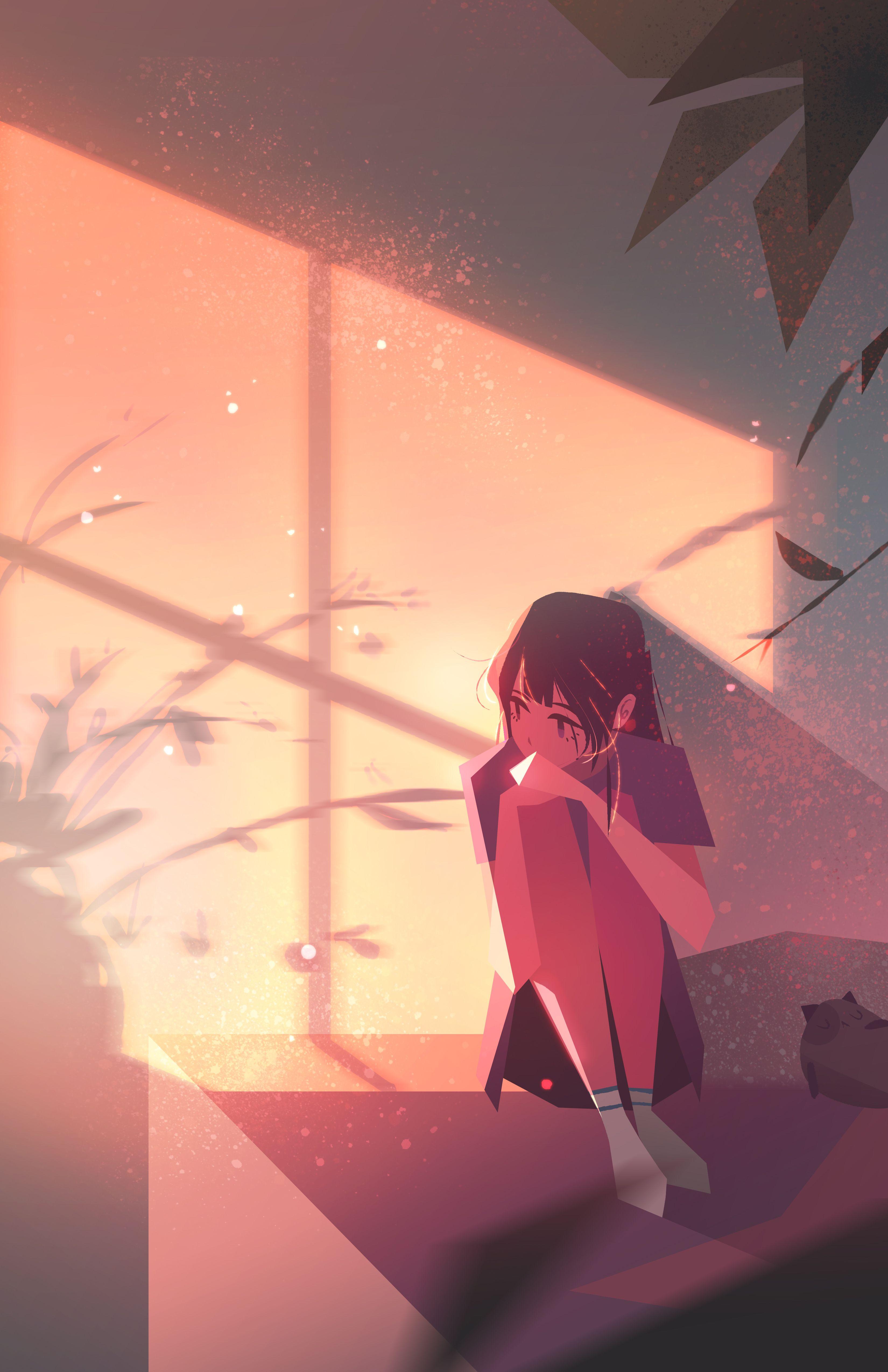 Morning Anime Art Girl Anime Art Anime Artwork