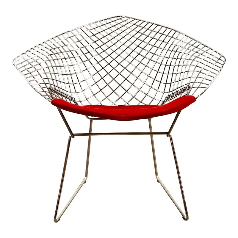 Excellent Modern Harry Bertoia For Knoll Red Diamond Lounge Chair In Alphanode Cool Chair Designs And Ideas Alphanodeonline