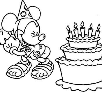 Coloriage mickey joyeux anniversaire viens t 39 amuser - Coloriage tete mickey ...
