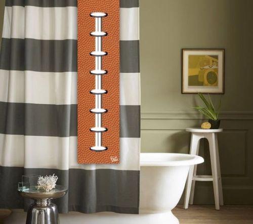 Football Shower Tag For Your Curtain Bathroom Accessory Nfl
