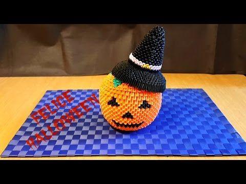Origami 3D Zucca Halloween Tutorial ITA - YouTube origami
