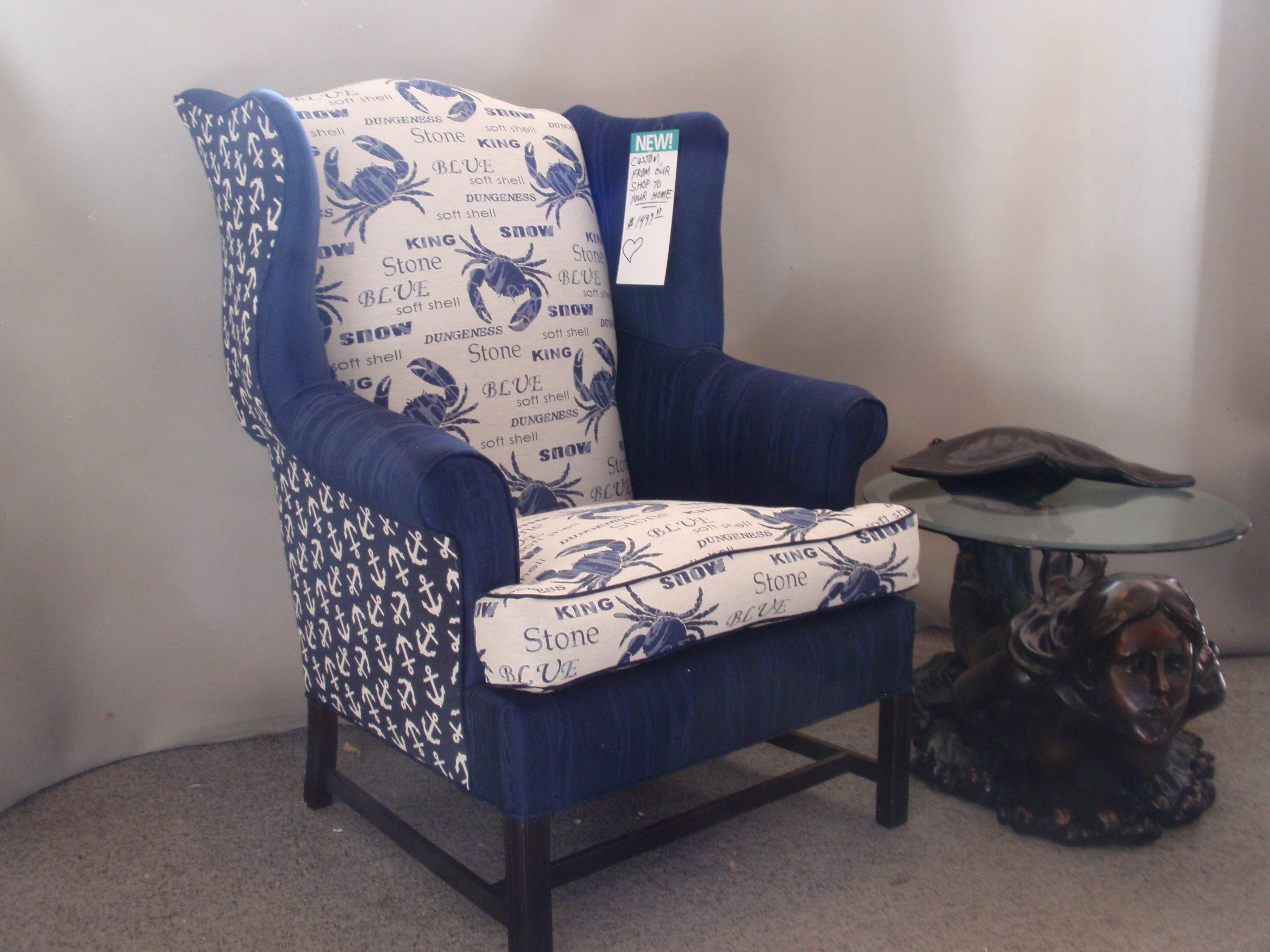 Admiral's chair. 8-way hand tied, down filled cushion for ...