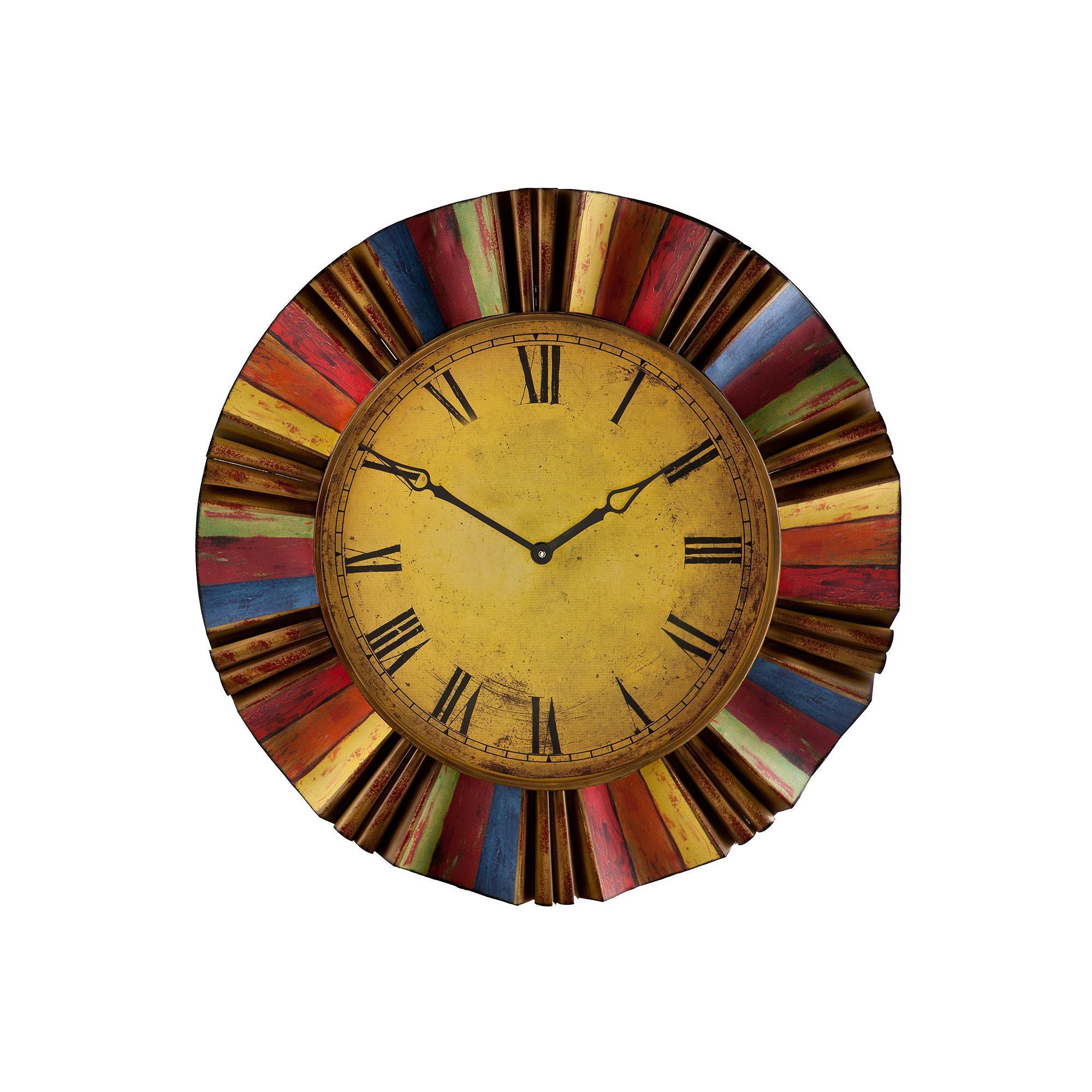 Southern Enterprises Harland Multicolor Wall Clock | Wall clocks ...