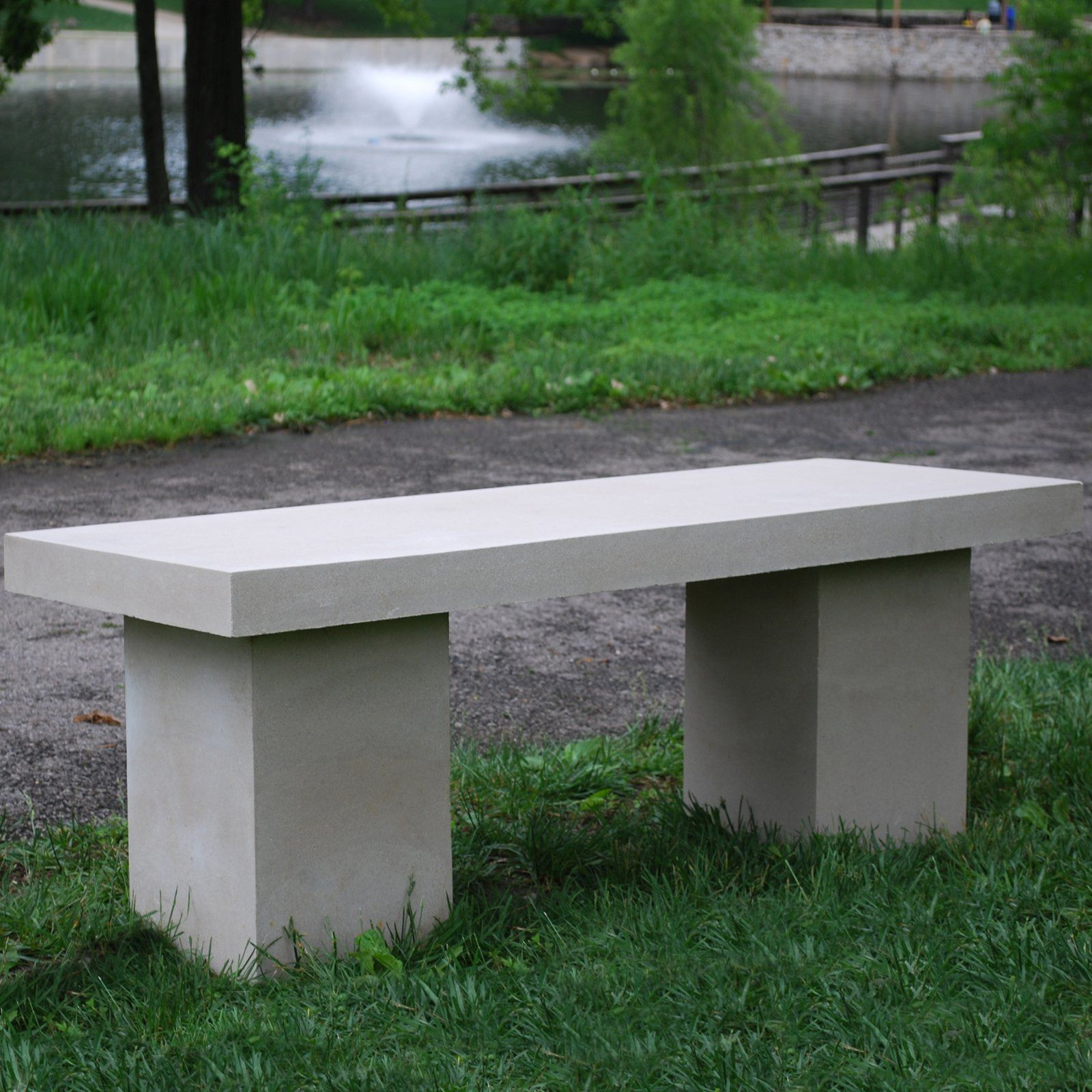 Modern Concrete Benches: Have To Have It. APO 4-ft. Modern Concrete Stone Bench