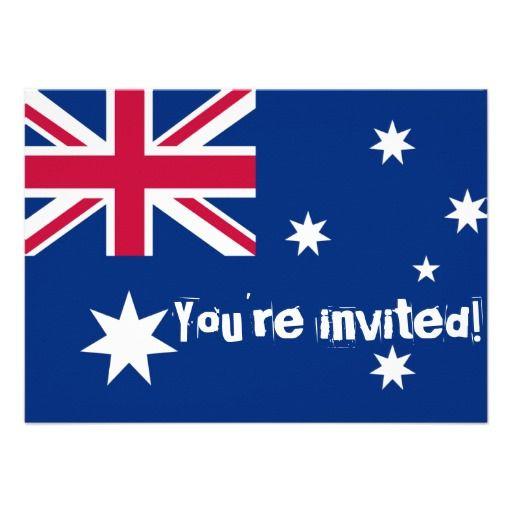 Australian Flag Party Invites