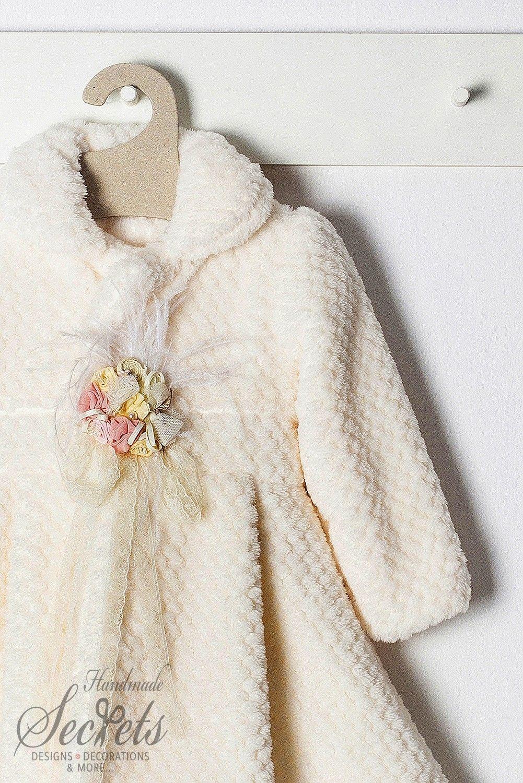 Παλτό βάπτισης της Bambolino για κορίτσια με διακοσμητικά τριαντάφυλλα 3aecb8a28dc