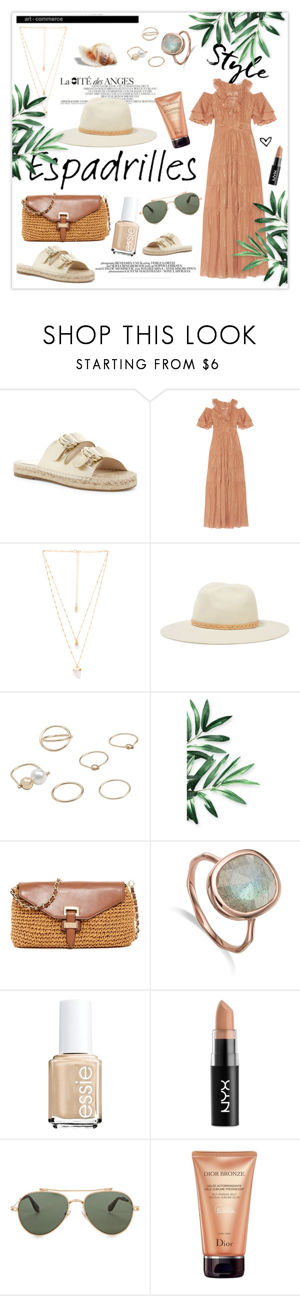 """Step into Summer: Espadrilles"" by mars ❤ liked on Polyvore featuring Joie, Rachel Zoe, Natalie B, rag & bone, MANGO, MICHAEL Michael Kors, NYX, Chloé, Givenchy and Christian Dior"