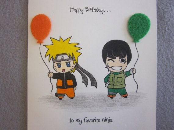 Naruto Inspired Birthday Card Naruto Birthday Naruto Party