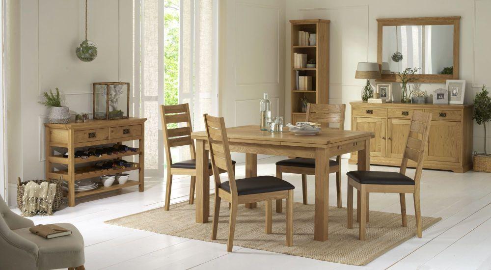 Bentley Designs Provence Oak Dining Set - 4-6 Draw Leaf Extending