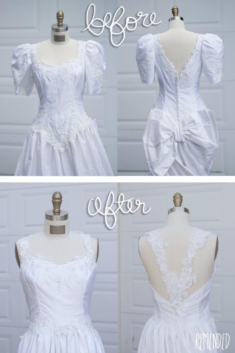 Remended Refashion 80s Wedding Dress Old Wedding Dresses Upcycled Wedding Dress Mom Wedding Dress