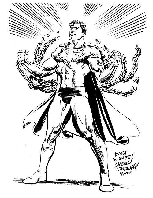 Superman by Jerry Ordway   Superheroes   Pinterest   arte DC Comics ...