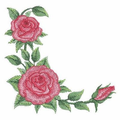 Watercolor Red Roses 4 - 3 Sizes! Sweet Heirloom Embroidery   Watercolor red, Red roses, Machine ...