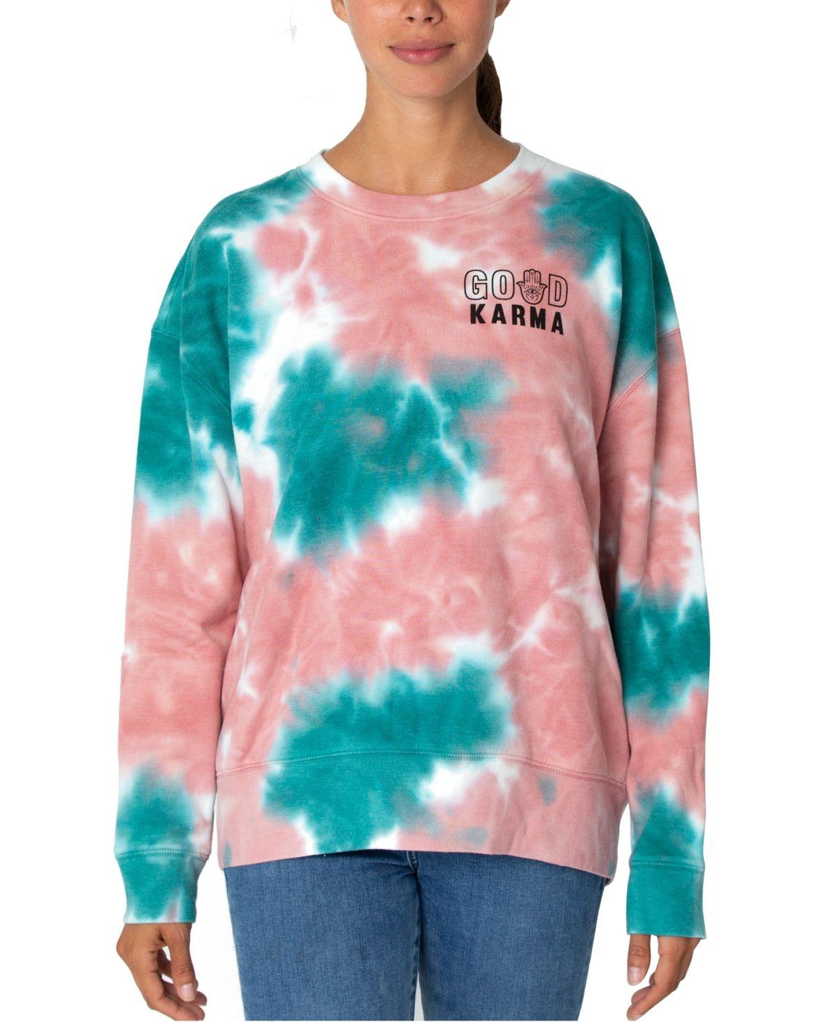 Rebellious One Juniors Tie Dyed Good Karma Graphic Sweatshirt Dusty Rose In 2021 Diy Tie Dye Shirts Tie Dye Cool Tie Dye Designs [ 1467 x 1200 Pixel ]